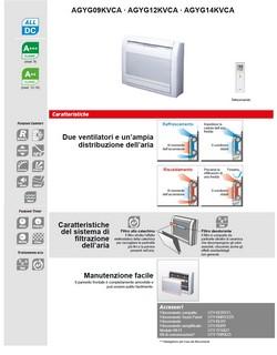 Condizionatore Fujitsu Mono Split 9000 Btu AGYG09KVCA AOYG09KVCA