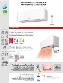 Climatizzatore Fujitsu Mono Split 7000 Btu ASYG07KMCC AOYG07KMCC