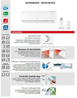 Climatizzatore Fujitsu Mono Split 9000 Btu ASYG09KXCA AOYG09KXCA